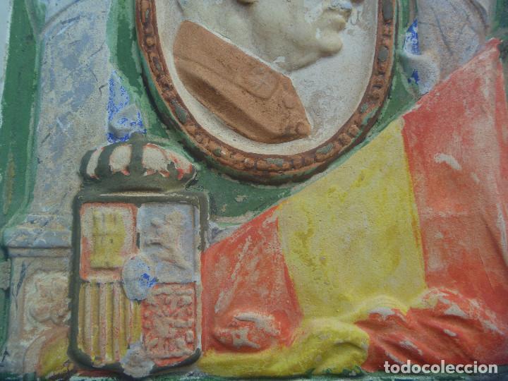 Antigüedades: RARISIMA PLACA DE CERAMICA DE LA UNION PATRIOTICA DE MIGUEL PRIMO DE RIVERA , 1923 - Foto 3 - 171872393