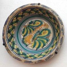 Antigüedades: LEBRILLO DE TRIANA, PINTADO A MANO DEL SIGLO XIX. Lote 171962014