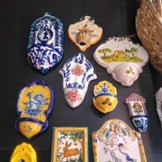 Antigüedades: LOTE DE 10 ANTIGUAS BENDITERAS. Lote 171963547