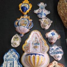 Antigüedades: LOTE DE 10 ANTIGUAS BENDITERAS. Lote 171963818