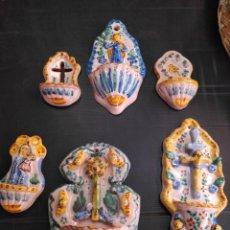 Antigüedades: LOTE DE 6 ANTIGUAS BENDITERAS. Lote 171964292