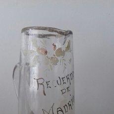 Antigüedades: ANTIGUA GRAN JARRA DE CRISTAL MODERNISTA RECUERDO DE MADRID. Lote 171970515