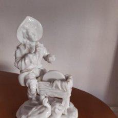 Antigüedades: PORCELANA BLANCA VIDRIADA PARA RESTAURAR. 18 CMS. ALTURA.. Lote 171974039