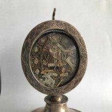 Antigüedades: RELICARIO DE PLATA S. XVIII. Lote 171990748