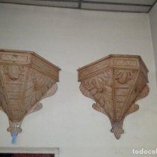 Antigüedades: PAREJA DE MENSOLAS. Lote 171994860
