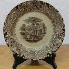 Antiquités: PLATO EN CERÁMICA INGLESA - SANDEMAN MACDOUGALL SERIE VISTAS - SIGLO XIX. Lote 171995455