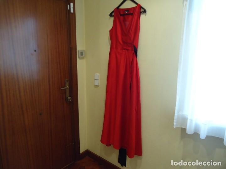VESTIDO LARGO.ANTONIO PERNAS (Antigüedades - Moda y Complementos - Mujer)