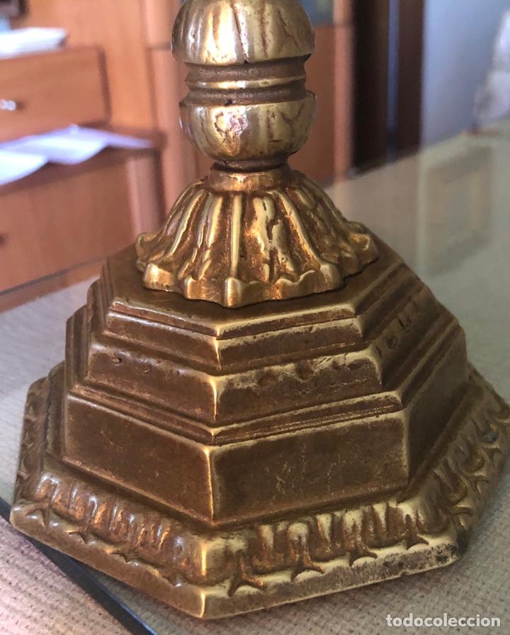 Antigüedades: Candelabro judío ocho brazo en bronce - Foto 2 - 172003688