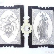 Antigüedades: DECENARIO XXXV CONGRESO EUCARÍSTICO INTERNACIONAL BARCELONA 1952 Y DETENTE BALA VIRGEN DEL CARMEN. Lote 172004220