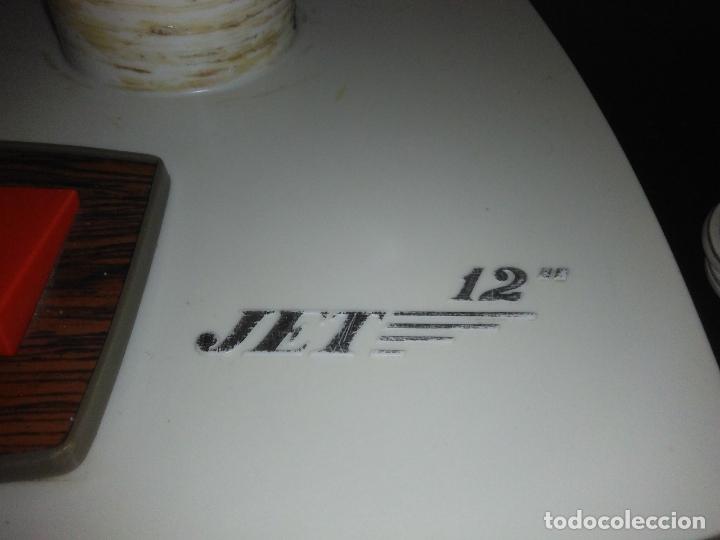 Antigüedades: Ventilador de sobremesa Jet 12 Blanco y naranja 3 velocidades vintage - Foto 8 - 172011433
