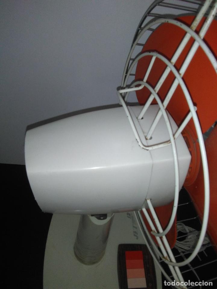 Antigüedades: Ventilador de sobremesa Jet 12 Blanco y naranja 3 velocidades vintage - Foto 14 - 172011433