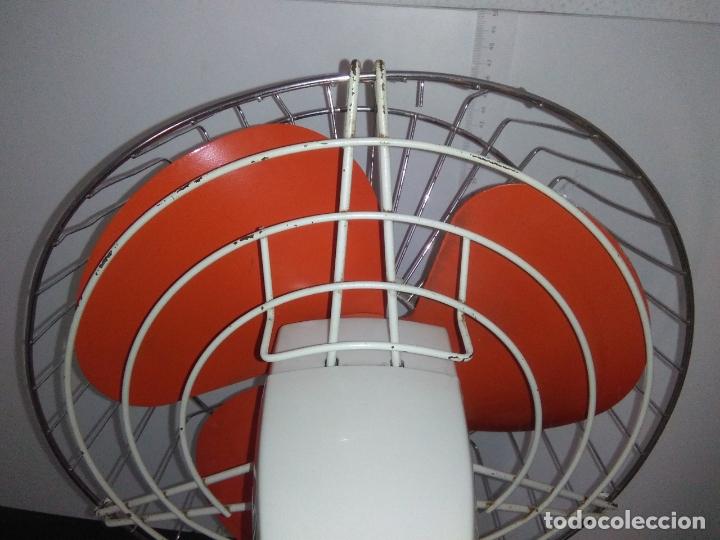 Antigüedades: Ventilador de sobremesa Jet 12 Blanco y naranja 3 velocidades vintage - Foto 18 - 172011433
