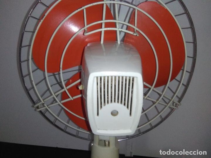 Antigüedades: Ventilador de sobremesa Jet 12 Blanco y naranja 3 velocidades vintage - Foto 19 - 172011433