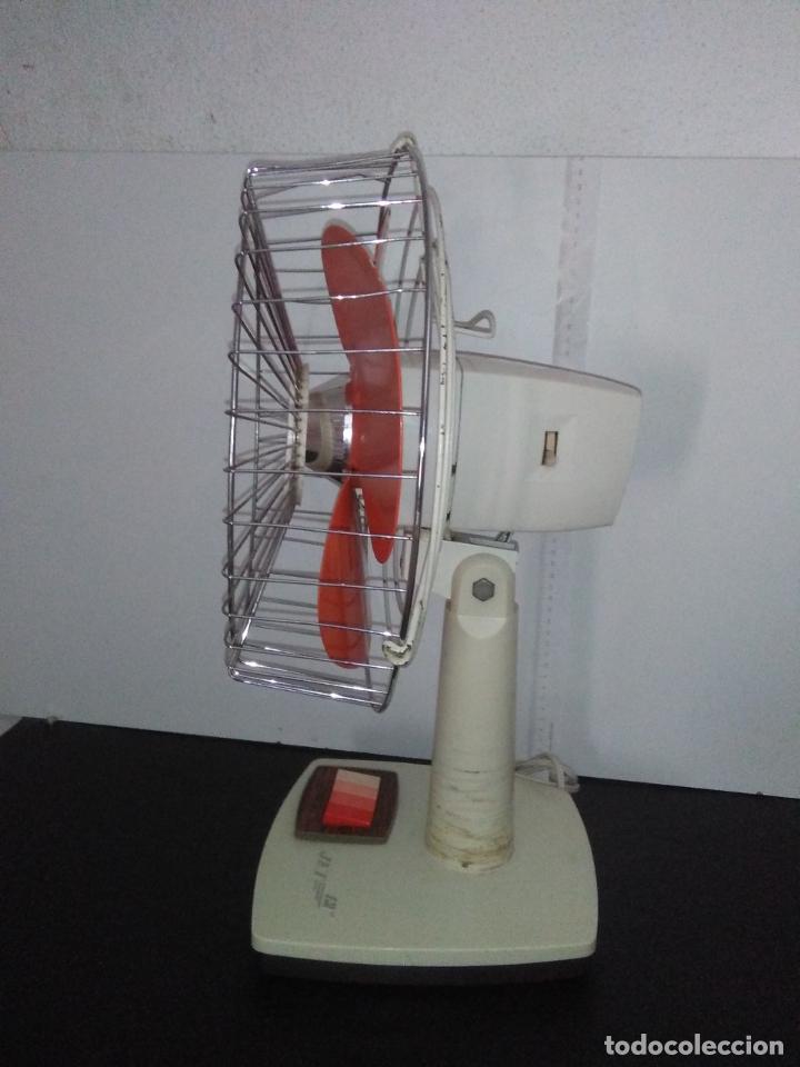Antigüedades: Ventilador de sobremesa Jet 12 Blanco y naranja 3 velocidades vintage - Foto 22 - 172011433