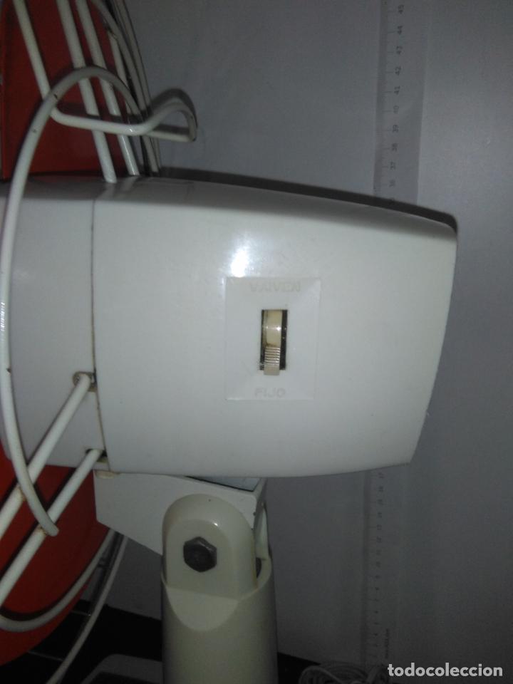 Antigüedades: Ventilador de sobremesa Jet 12 Blanco y naranja 3 velocidades vintage - Foto 24 - 172011433