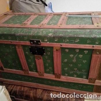 Antigüedades: Lote de 2 baúles años 60. Aceptable estado, Tal como se ven en la foto - Foto 8 - 172016495