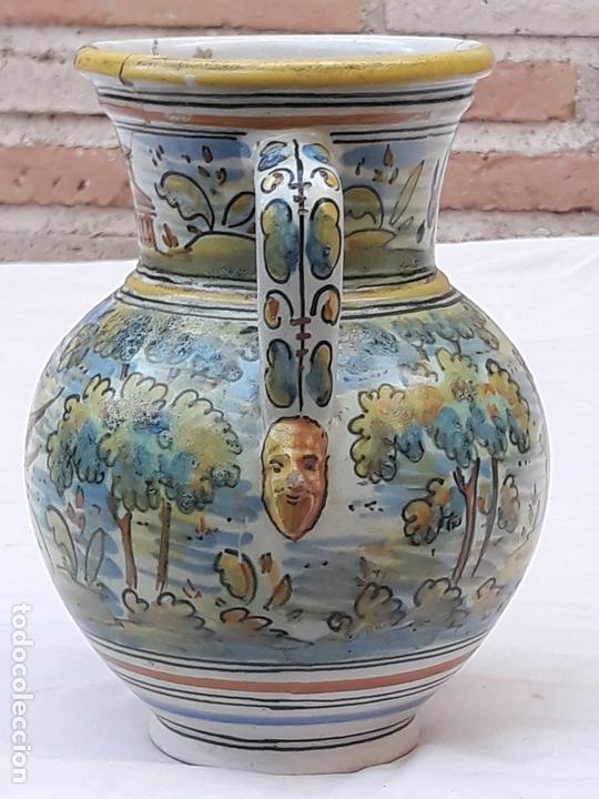 Antigüedades: JARRA ANTIGUA DE DOS ASAS DE TALAVERA DE LA REINA - FIRMADA: MONTEMAYOR. - Foto 3 - 172022562