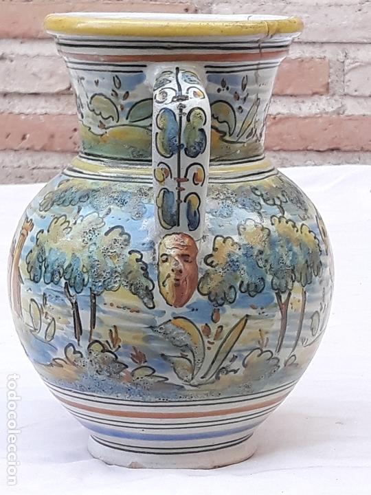 Antigüedades: JARRA ANTIGUA DE DOS ASAS DE TALAVERA DE LA REINA - FIRMADA: MONTEMAYOR. - Foto 4 - 172022562