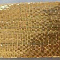 Antigüedades: ANTIGUO GALÓN - AGREMÁN DE HOJILLA ORO PPIO. S. XX - S-XIX. Lote 279499718