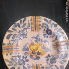 Antigüedades: MANISES ANTIGUO PLATO HONDO 31 CM DIÁMETRO. Lote 172029409