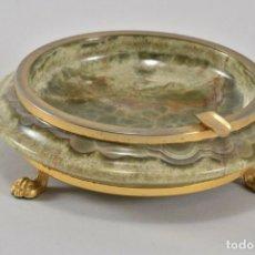 Antigüedades: CENICERO DE MÁRMOL ONYX ESTILO IMPERIO AÑOS 60. Lote 172032464