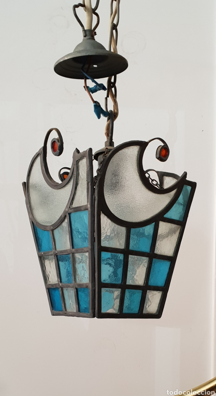 LAMPARA DE TECHO MODERNISTA (Antigüedades - Iluminación - Lámparas Antiguas)