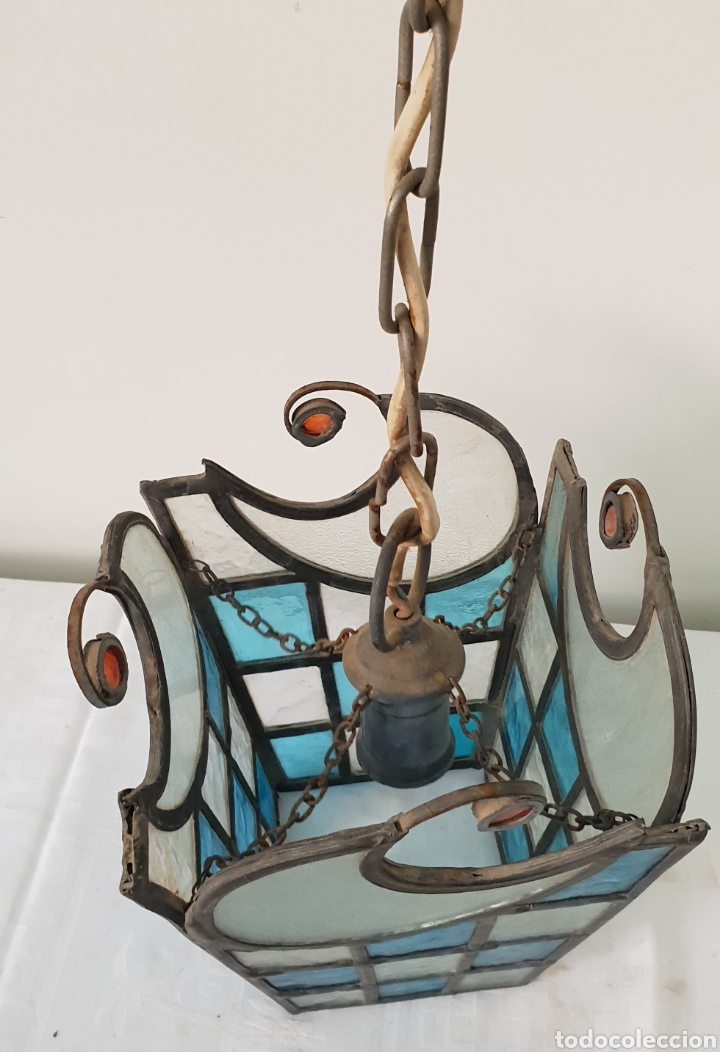 Antigüedades: Lampara de techo modernista - Foto 4 - 172046800