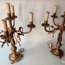 Antigüedades: CANDELABROS PAREJA-. Lote 172056773