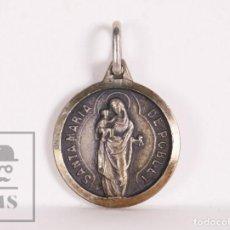 Antigüedades: ANTIGUA MEDALLA RELIGIOSA - SANTA MARÍA DE POBLET - DIÁMETRO 14 MM. Lote 172057720