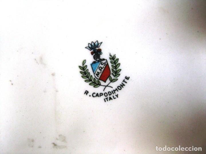 Antigüedades: CAJA JOYERO CON ESCENAS DE QUERUBINES, EN PORCELANA O CERÁMICA DE CAPODIMONTE. PERFECTO - Foto 10 - 172060735
