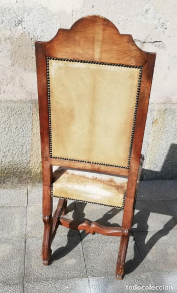 Antigüedades: 8 Sillas estilo Luis XIV Madera de Nogal, buen estado - Foto 10 - 172066963