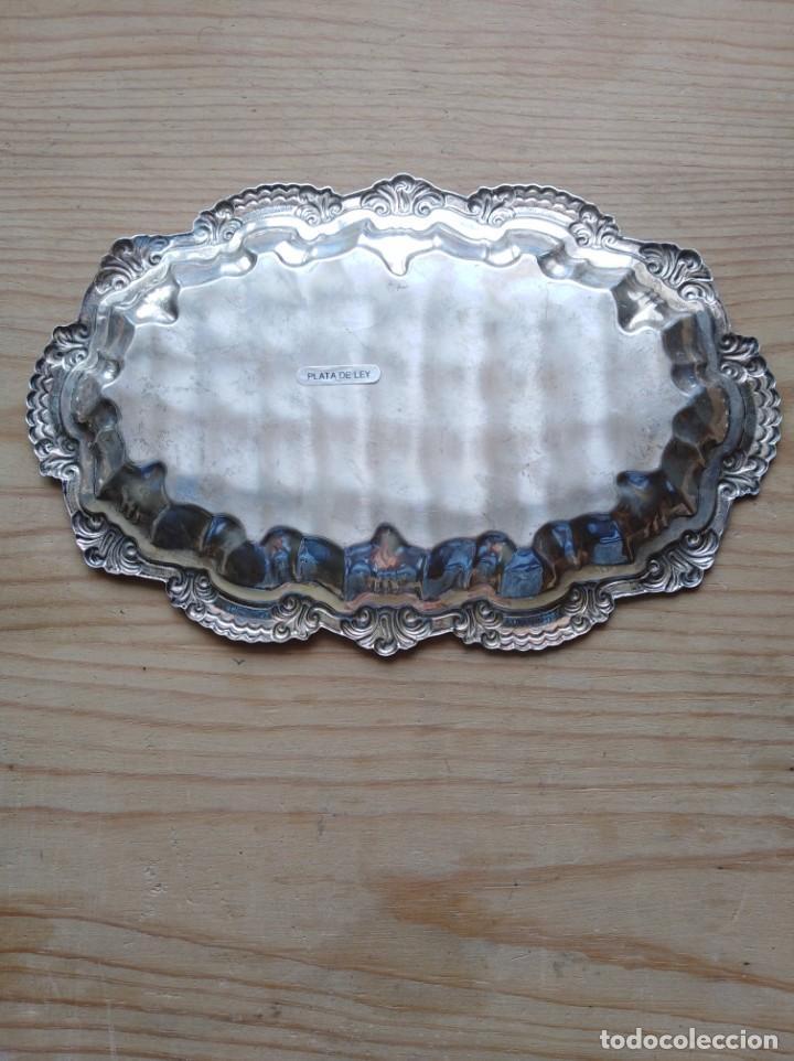 Antigüedades: Bonita bandeja de plata repujada contrastada - Foto 2 - 172068962