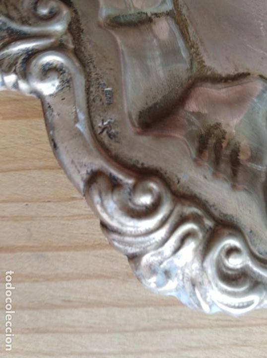 Antigüedades: Bonita bandeja de plata repujada contrastada - Foto 3 - 172068962