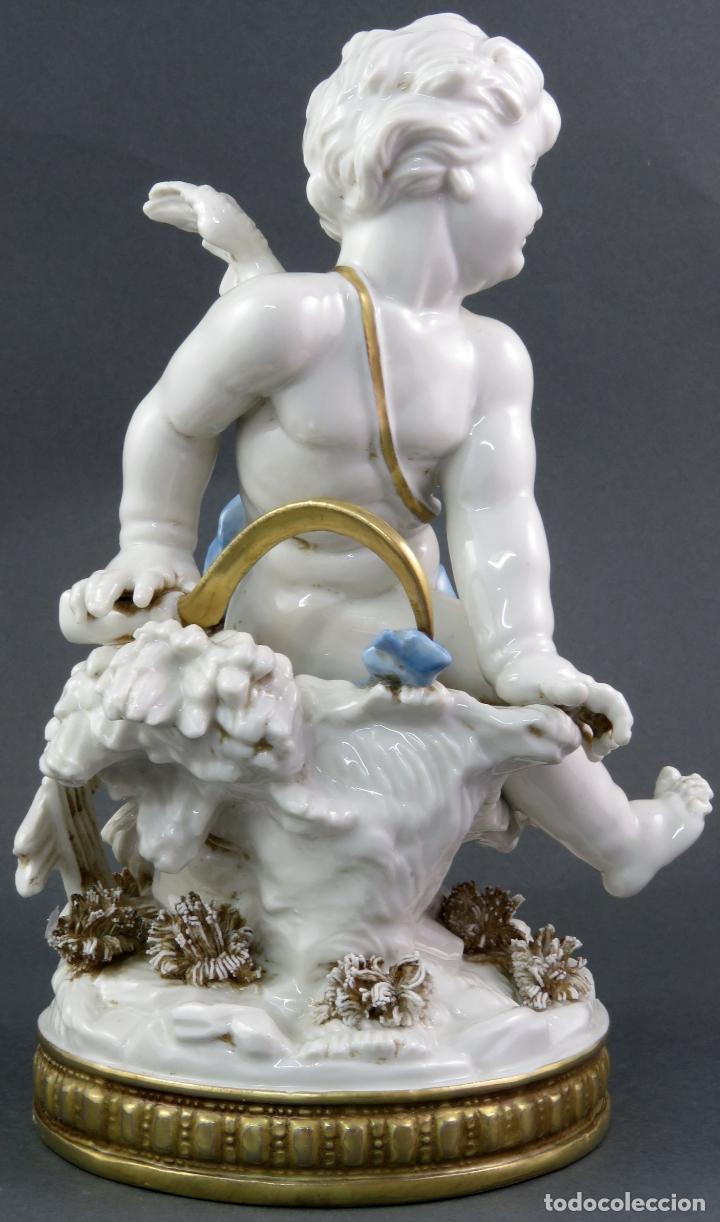 Antigüedades: Angel cupido en porcelana blanca de Algora siglo XX - Foto 3 - 172074528