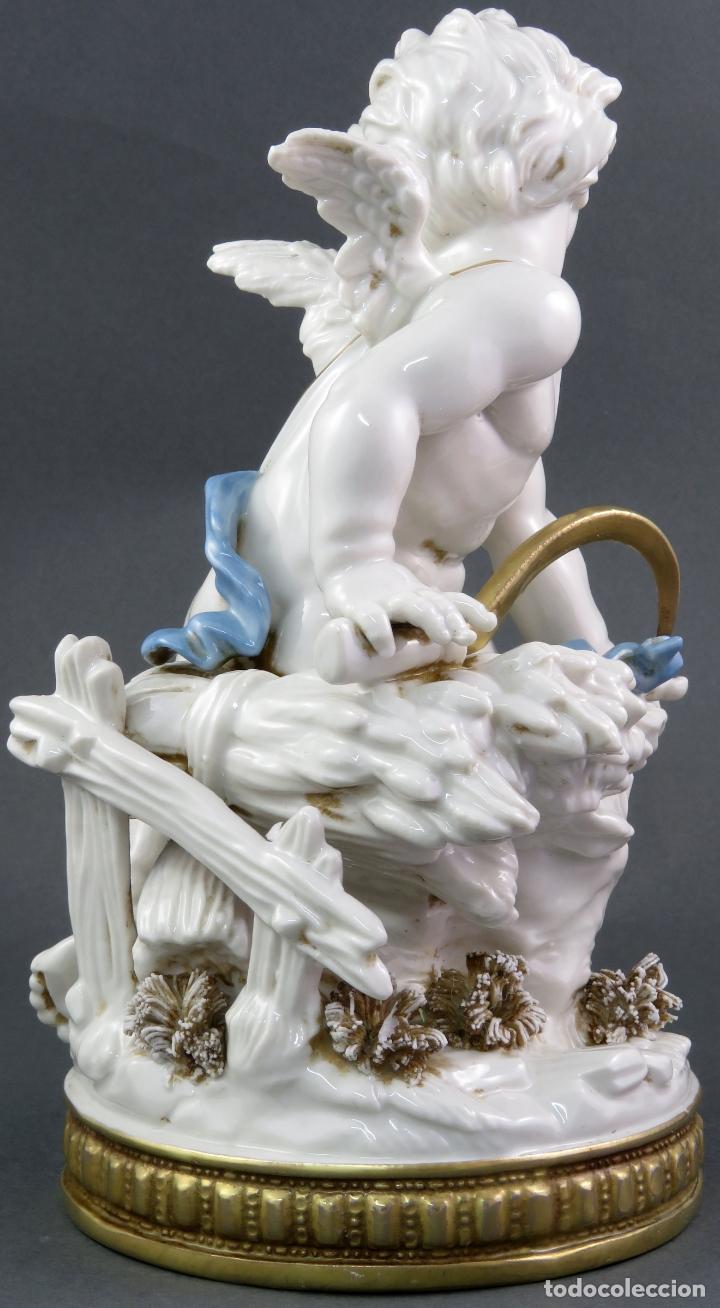 Antigüedades: Angel cupido en porcelana blanca de Algora siglo XX - Foto 4 - 172074528