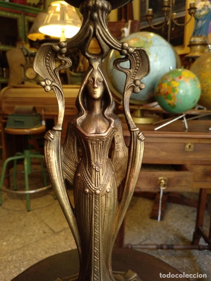 Antigüedades: GRANDE Y ANTIGUO CENTRO ESCULTURA MODERNISTA , GRAN DECORACION - Foto 2 - 172109420