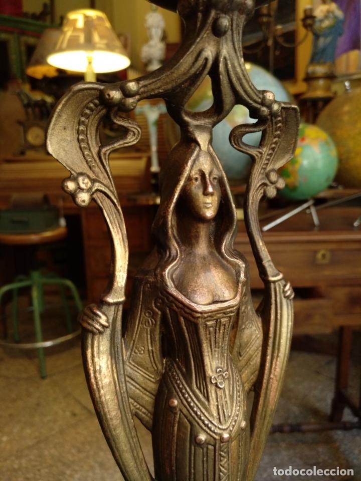 Antigüedades: GRANDE Y ANTIGUO CENTRO ESCULTURA MODERNISTA , GRAN DECORACION - Foto 4 - 172109420