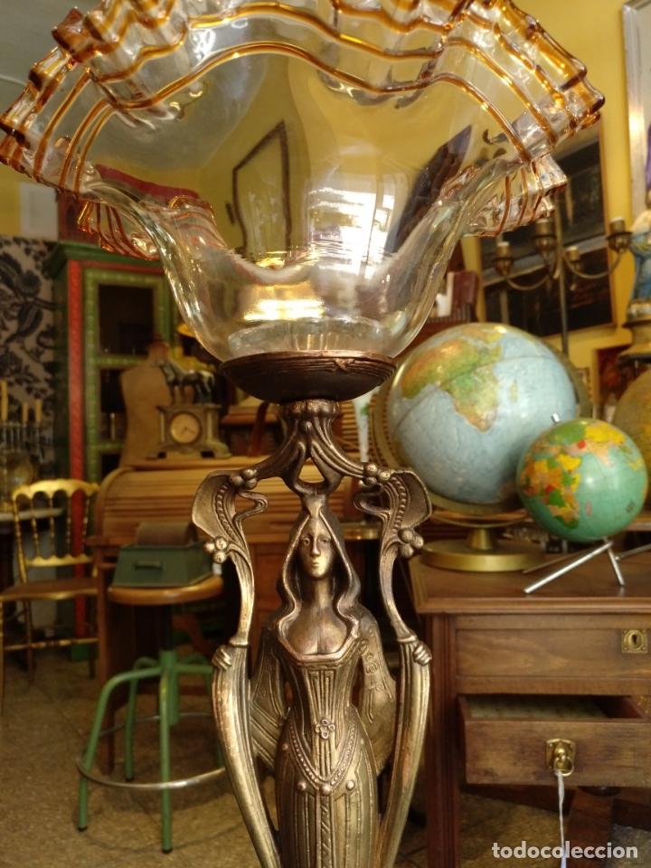 Antigüedades: GRANDE Y ANTIGUO CENTRO ESCULTURA MODERNISTA , GRAN DECORACION - Foto 8 - 172109420