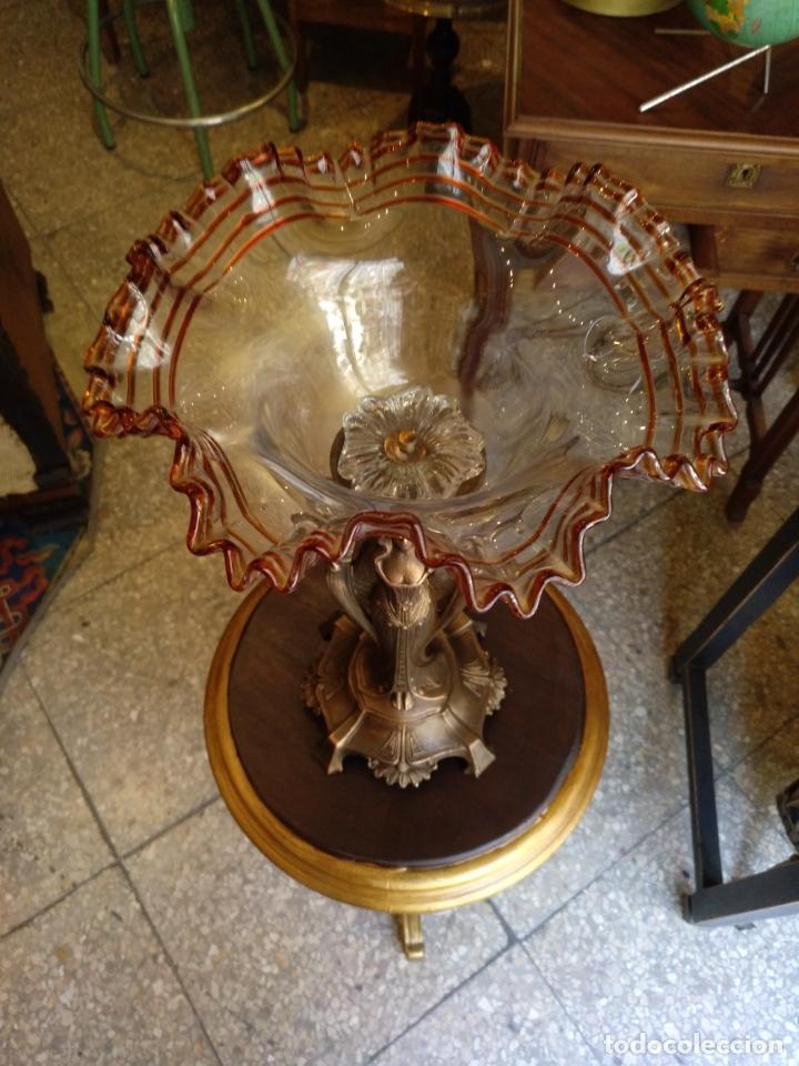 Antigüedades: GRANDE Y ANTIGUO CENTRO ESCULTURA MODERNISTA , GRAN DECORACION - Foto 9 - 172109420