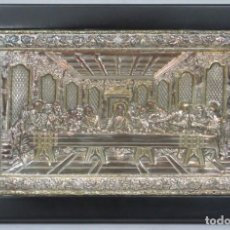 Antigüedades: PRECIOSA ULTIMA CENA DE LEONARDO DA VINCI. PLATA. 950MM. Lote 172110200