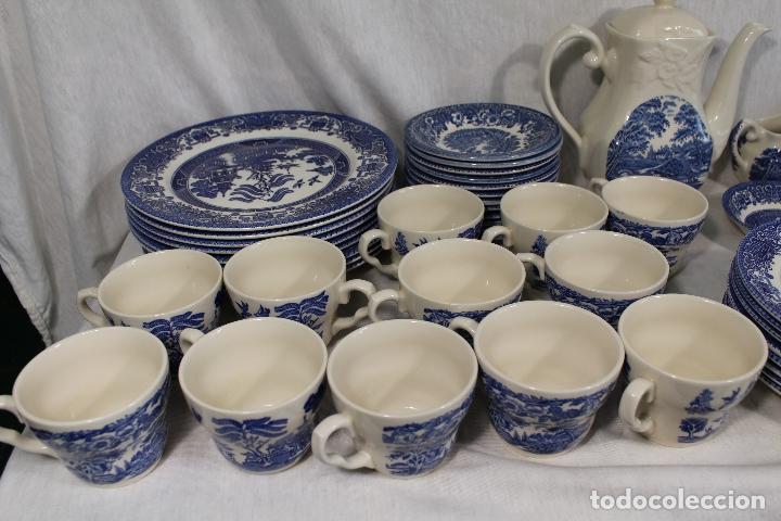 Antigüedades: vajilla de porcelana Inglesa, Marca ENGLAND EIT - Foto 2 - 172128558