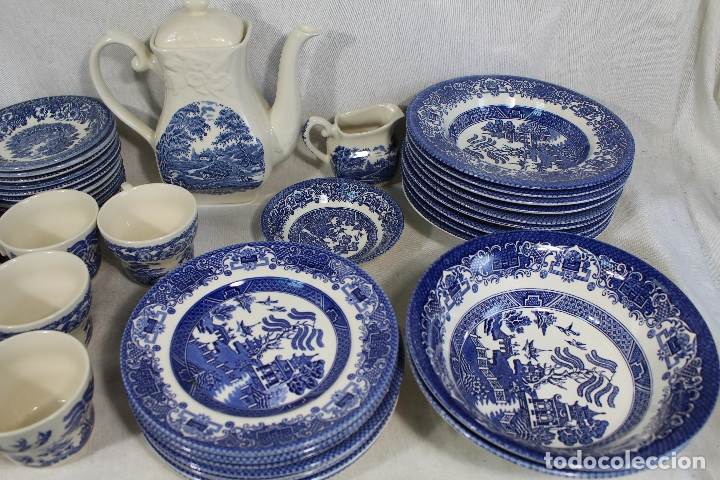 Antigüedades: vajilla de porcelana Inglesa, Marca ENGLAND EIT - Foto 3 - 172128558