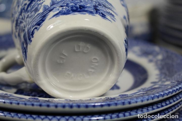 Antigüedades: vajilla de porcelana Inglesa, Marca ENGLAND EIT - Foto 4 - 172128558