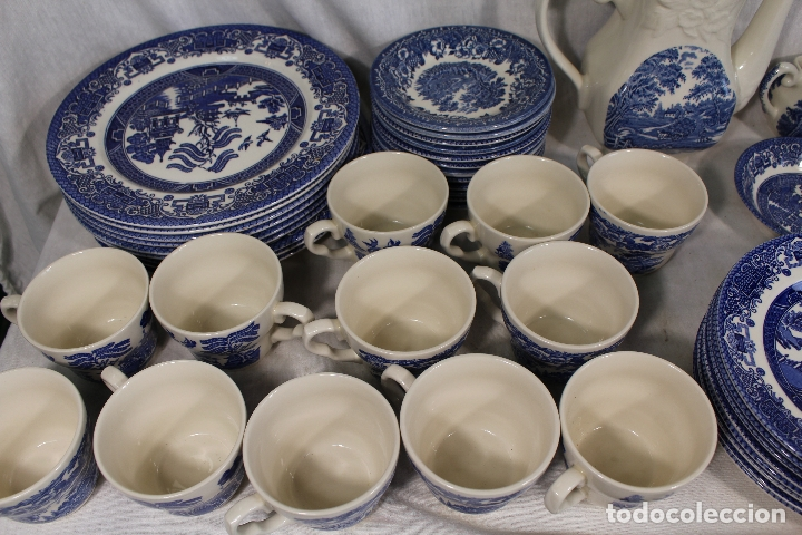 Antigüedades: vajilla de porcelana Inglesa, Marca ENGLAND EIT - Foto 6 - 172128558