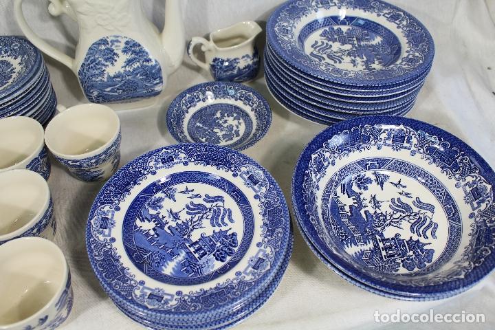 Antigüedades: vajilla de porcelana Inglesa, Marca ENGLAND EIT - Foto 7 - 172128558