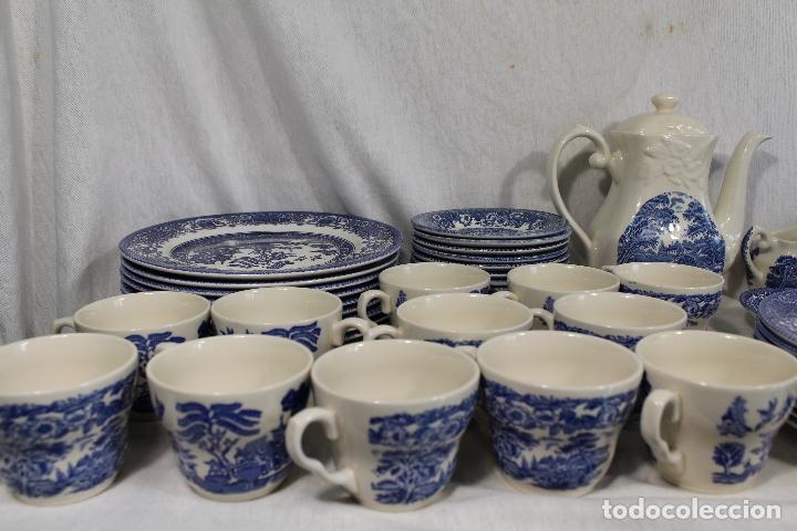 Antigüedades: vajilla de porcelana Inglesa, Marca ENGLAND EIT - Foto 8 - 172128558