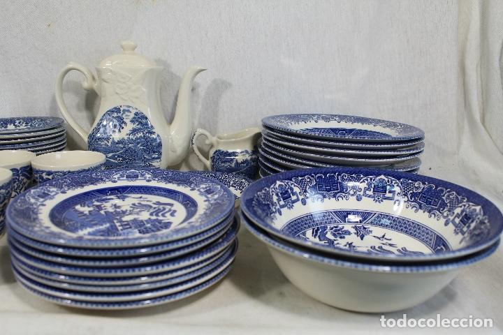 Antigüedades: vajilla de porcelana Inglesa, Marca ENGLAND EIT - Foto 9 - 172128558