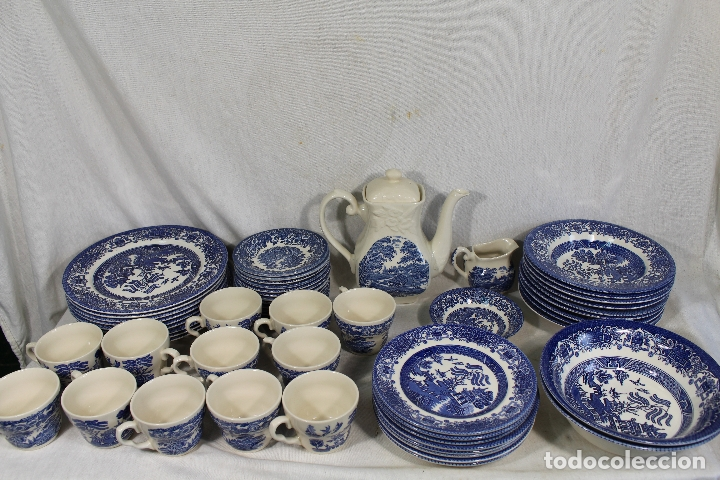VAJILLA DE PORCELANA INGLESA, MARCA ENGLAND EIT (Antigüedades - Porcelanas y Cerámicas - Inglesa, Bristol y Otros)
