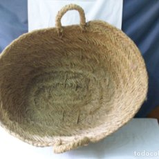 Antigüedades: ESPUERTA GRANDE-DE ESPARTO-HECHA A MANO. Lote 172139528