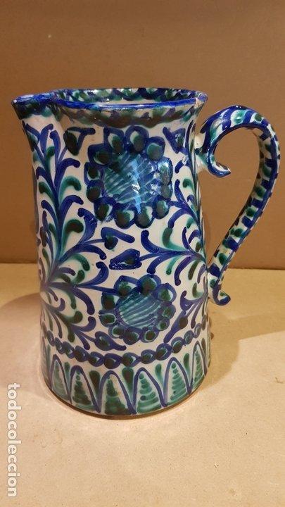CURIOSA JARRA DE CERÁMICA DE FAJALAUZA / MARCA INTERIOR / CERÁMICA ARABE / GRANADA / 22 X 19 CM. (Antigüedades - Porcelanas y Cerámicas - Fajalauza)